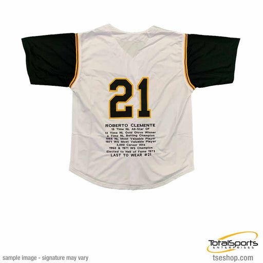 Roberto Clemente Custom Stitched Baseball STAT Jersey Size Xl New No Brands/Logos