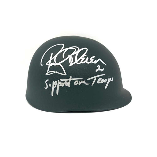 Rocky Bleier Autographed Custom Army Helmet with Support Our Troops