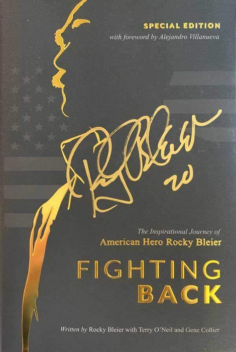 Rocky Bleier Fighting Back Special Edition Hard Back Book