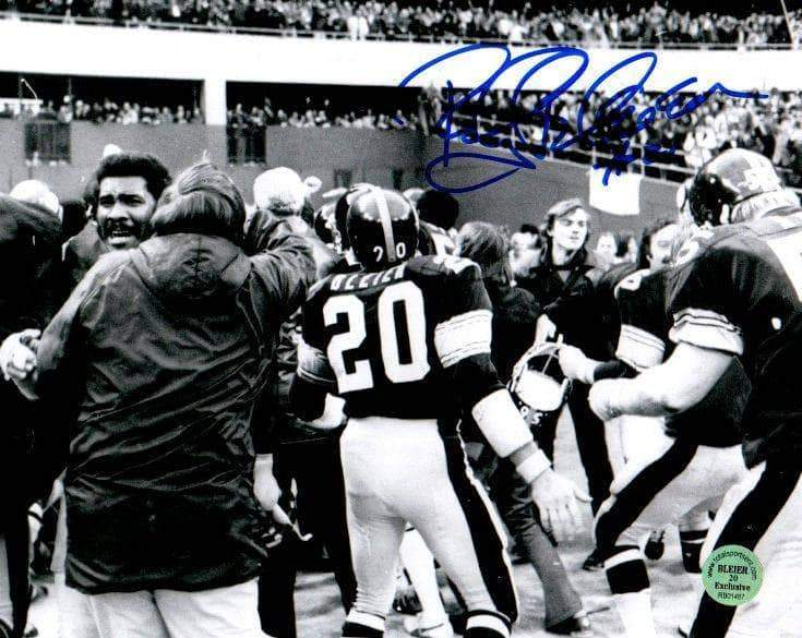 Rocky Bleier Signed Celebrating Immaculate Reception 8x10 Photo