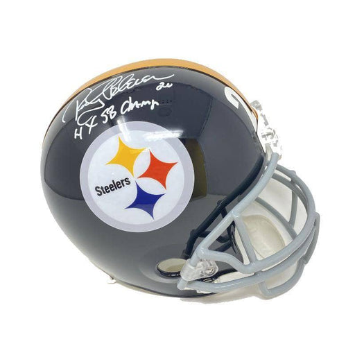 Rocky Bleier Signed Pittsburgh Steelers TB Full Size Replica Helmet Inscribed 4X SB Champ