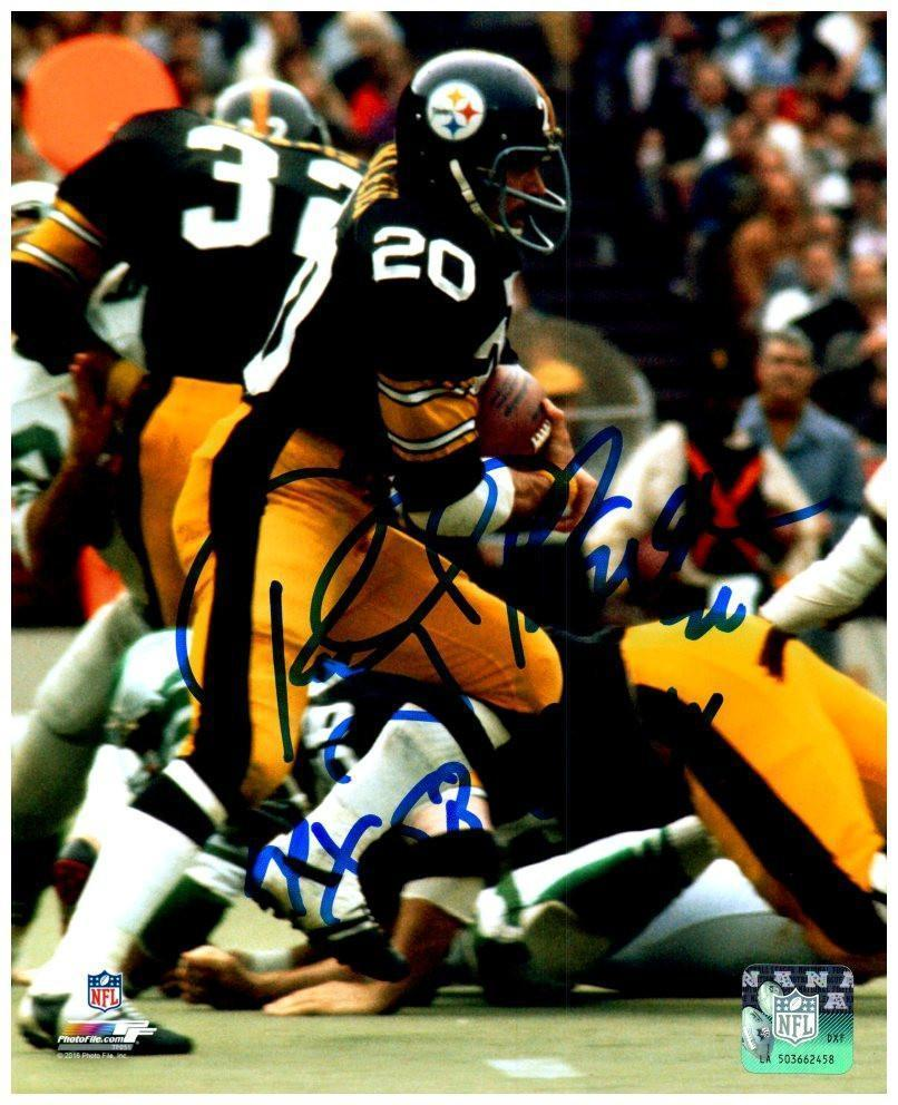 Rocky Bleier Signed Running with Ball 16x20 Photo with 4X SB Champs Inscription