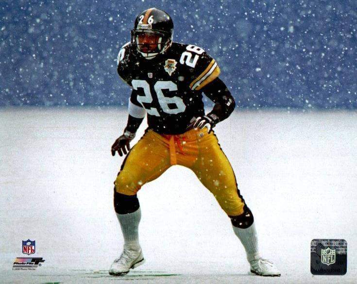 Rod Woodson in Snow Ready Stance Unsigned Licensed 8x10