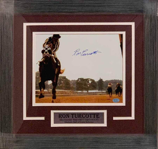 Ron Turcotte (Rider of Secretariat) Signed 8x10 Photo - Professionally Framed Default Title