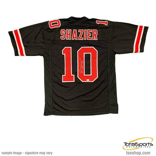 Ryan Shazier Autographed #10 Black Custom College Jersey