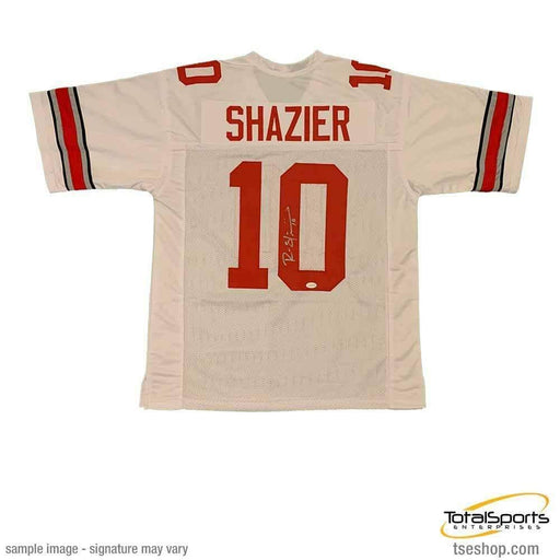 Ryan Shazier Autographed #10 White Custom College Jersey - DAMAGED