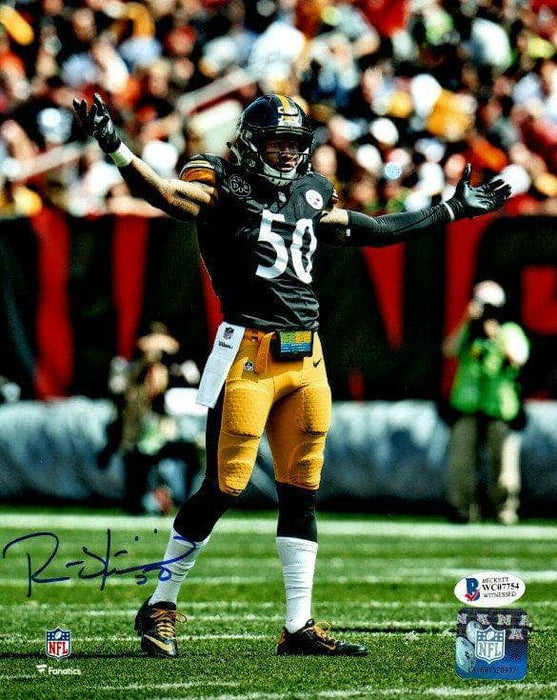 Ryan Shazier Autographed 2 Arms Ouy 8x10 Photo