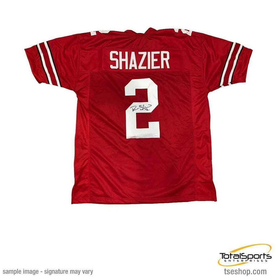 64aa1ed3afd Ryan Shazier Autographed  2 Red Custom College Jersey
