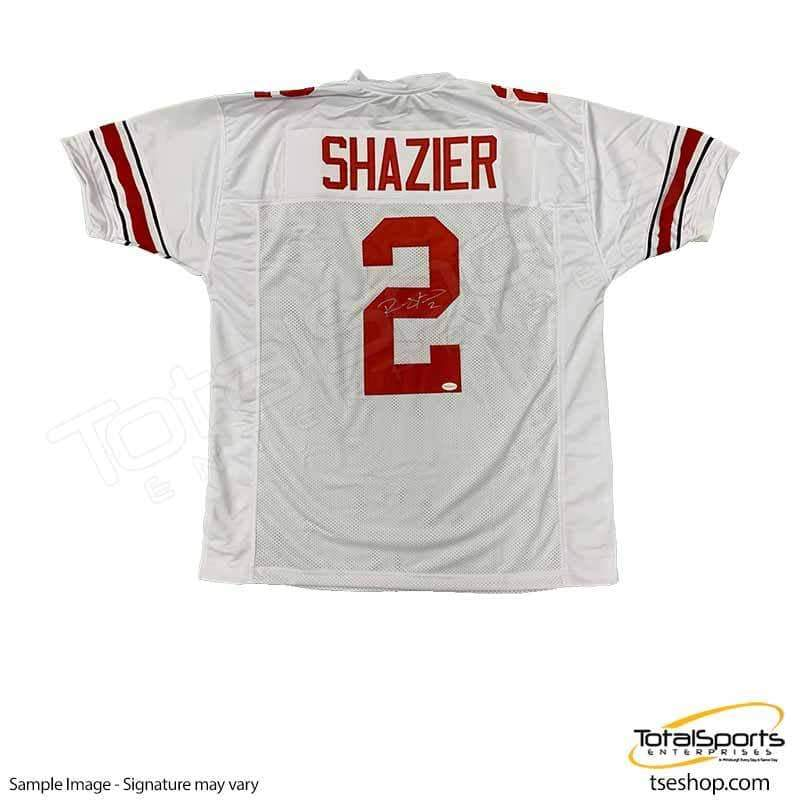 more photos c7d6a e92ce Ryan Shazier Autographed #2 White Custom College Jersey