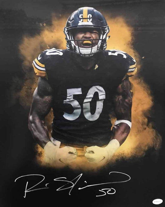 Ryan Shazier Autographed Color Burst Flexing 16x20 Photo
