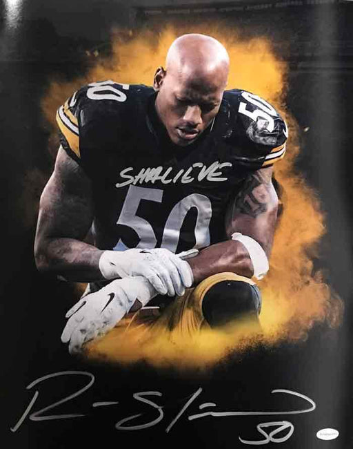 Ryan Shazier Autographed Color Burst Praying 16x20 Photo with Shalieve