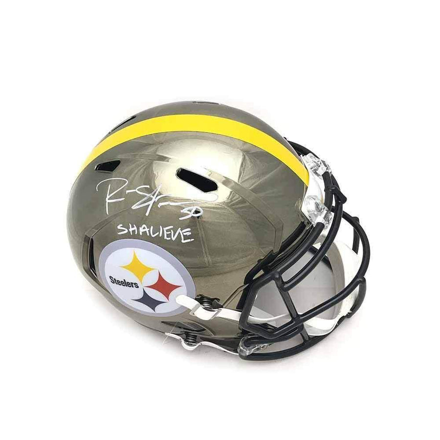 Ryan Shazier Autographed Full Sized Replica CHROME Speed Helmet with Shalieve