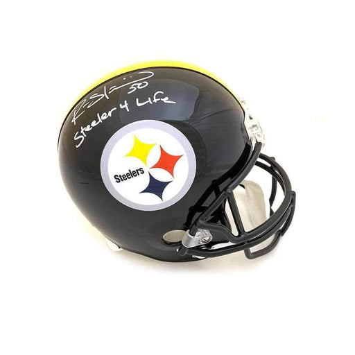 Ryan Shazier Autographed Full Sized Replica Helmet with Steeler 4 Life