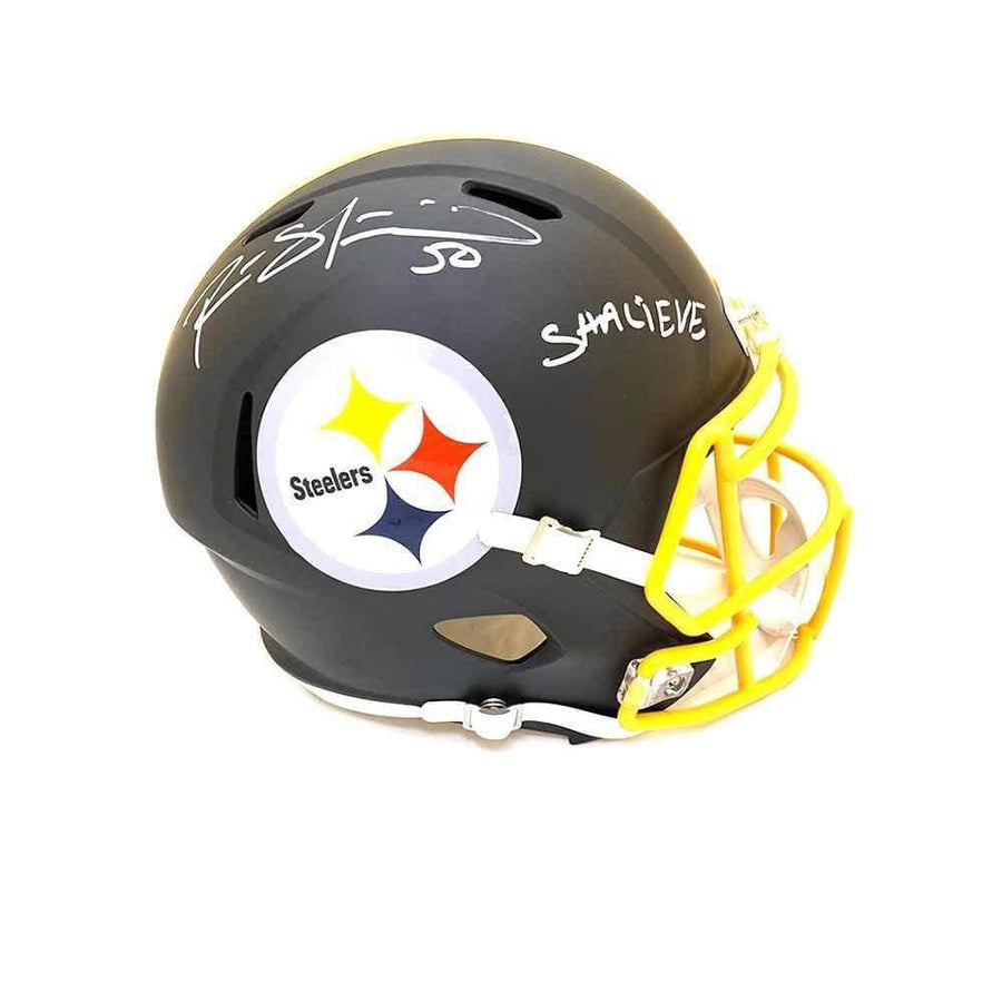 0e37beddc Ryan Shazier Autographed Full Sized Replica SPEED Matte Helmet with Gold  Mask with Shalieve