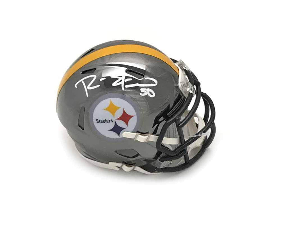 Ryan Shazier Autographed Pittsburgh Steelers CHROME Speed Mini Helmet