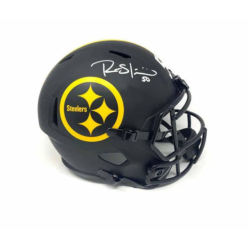 Ryan Shazier Autographed Pittsburgh Steelers Full Size Replica Eclipse Helmet - DAMAGED