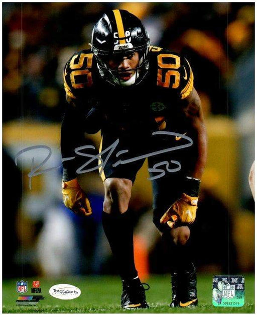 Ryan Shazier Autographed Ready Stance in Color Rush 8x10 Photo