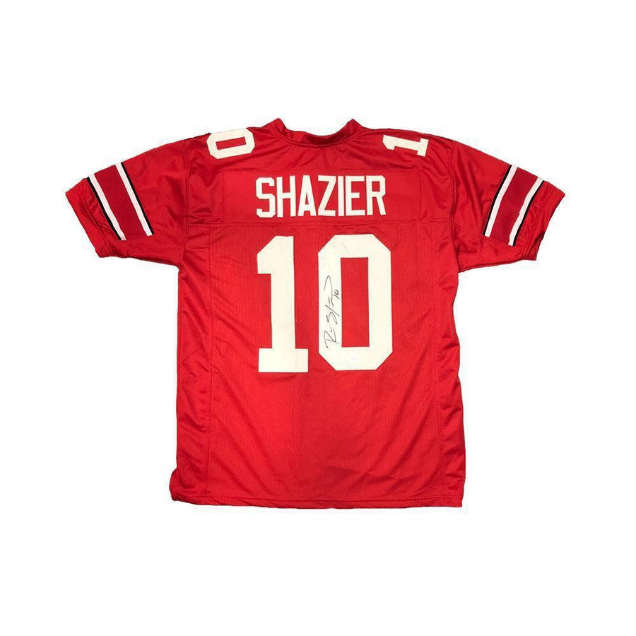 6452e9217d8 Ryan Shazier Autographed Red Custom College Jersey