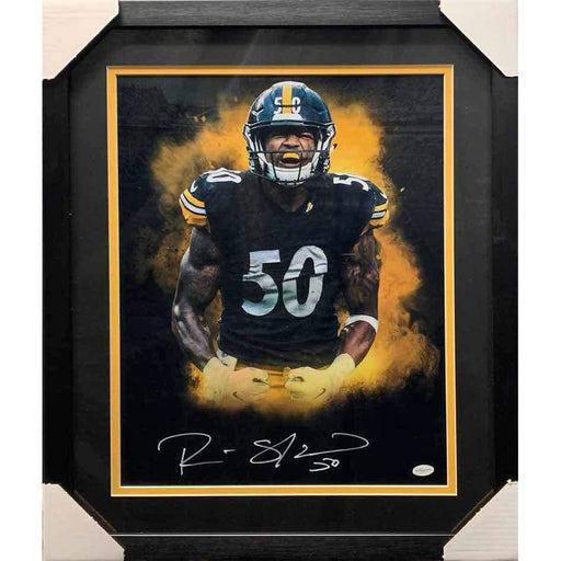 Ryan Shazier Signed Flexing Explosion 16x20 Photo - Professionally Framed