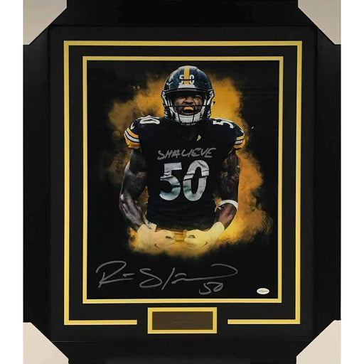 Ryan Shazier Signed Flexing Explosion with Shalieve 16x20 Photo - Professionally Framed