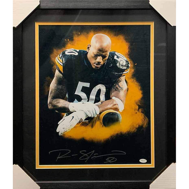 Ryan Shazier Signed Praying Explosion 16x20 - Professionally Framed