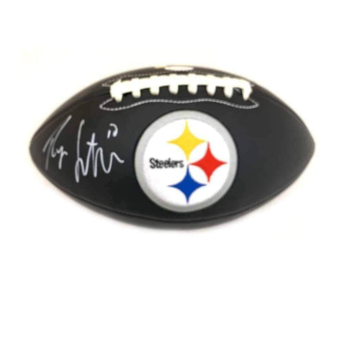Ryan Switzer Signed Pittsburgh Steelers Black Logo Football