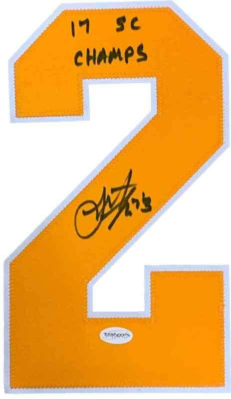 "Scott Wilson Signed Gold #2 with ""17 SC Champs"""