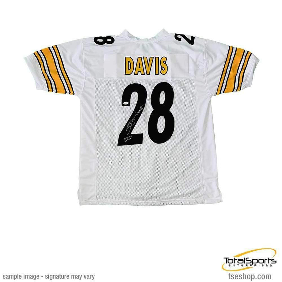 Sean Davis Signed Custom White Football Jersey