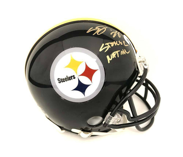 766029b971c Sean Davis Signed Pittsburgh Steelers Black Mini Helmet with