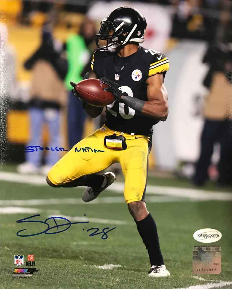 "Sean Davis Signed with Football 8x10 Photo with ""Steeler Nation"""