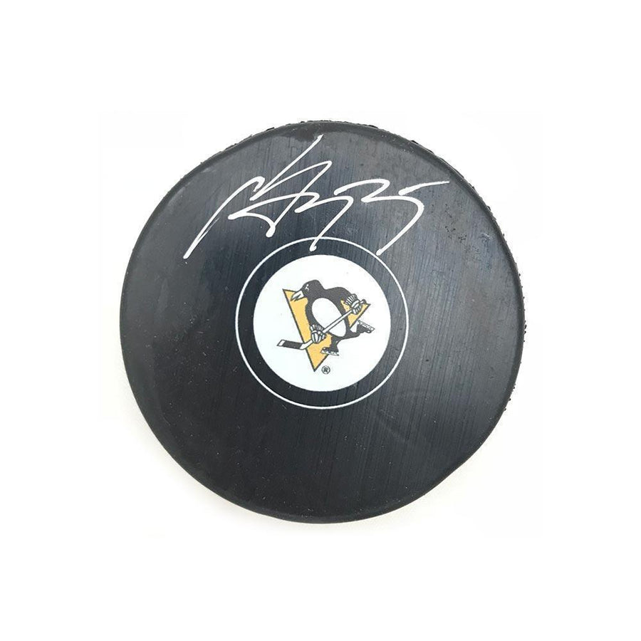 Sergei Gonchar Autographed Pittsburgh Penguins Logo Puck