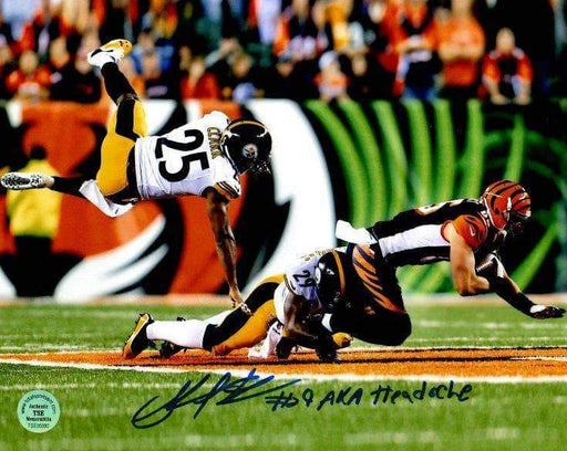 Shamarko Thomas Signed Hitting Bengal 8x10 Photo with Headache