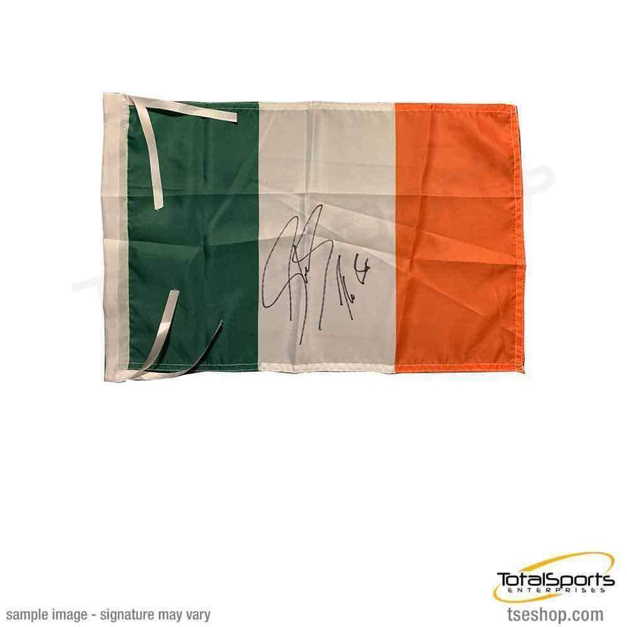 "SHEAMUS Signed Irish Flag with ""The Bar"""