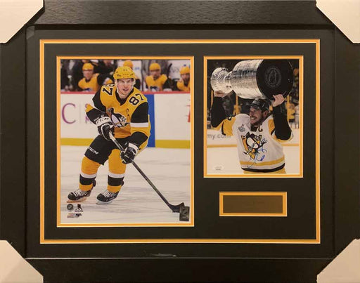 Sidney Crosby 11x14 Winter Classic With Signed Raising Cup 8x10 Photo - Professionally Framed