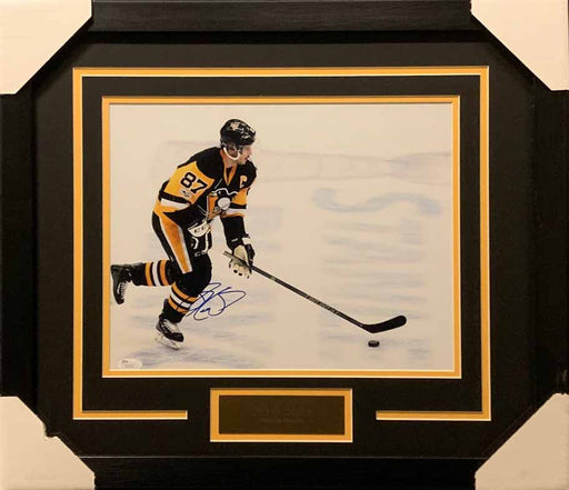 Sidney Crosby Autographed Skating Over 2017 Cup Logo 11x14 Photo - Professionally Framed