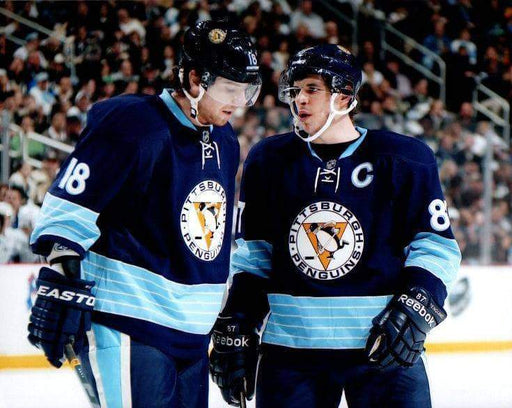 Sidney Crosby & James Neal in Navy Winter Classic Unsigned 8x10 Photo