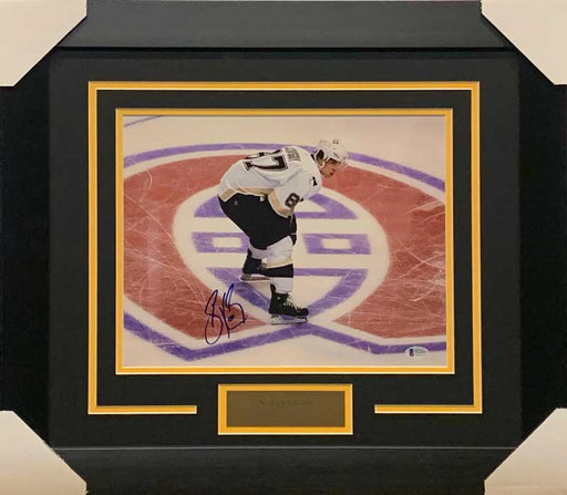 Sidney Crosby Signed Standing on Canadiens Logo 11x14 Photo - Professionally Framed