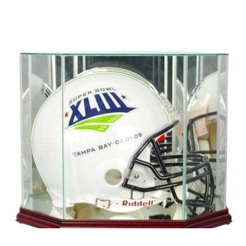 Single Full Sized Helmet Glass Display Case