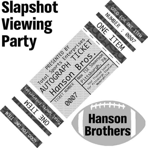 SLAPSHOT VIEWING / MEET & GREET TICKET with THE HANSON BROTHERS