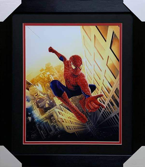 Spiderman Unsigned Shooting Web Vertical 16x20 Photo - Professionally Framed