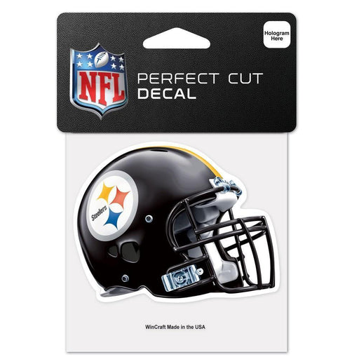 "Steelers Helmet Perfect Cut Color Decal 4"" x 4"""