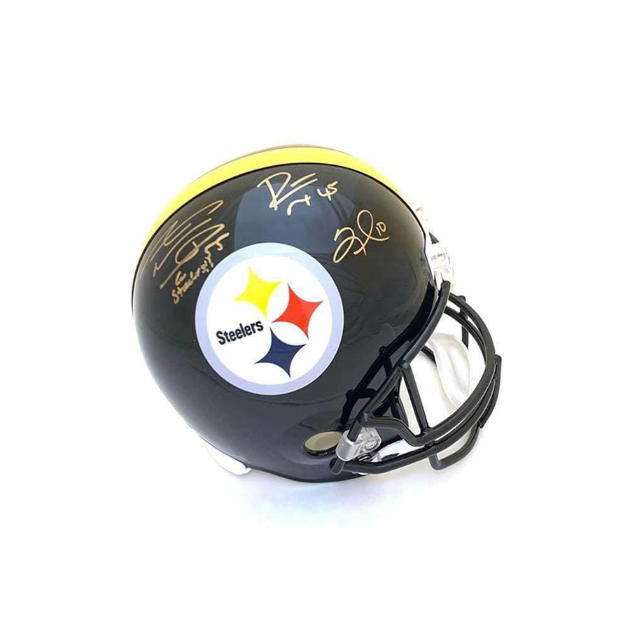 Steelers Multi-Signed Black Replica Full-Size Helmet