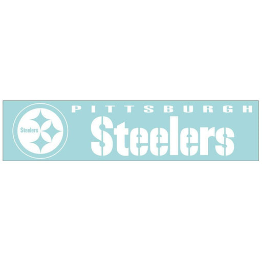 "Steelers Perfect Cut Clear Decal 4"" x 16"""