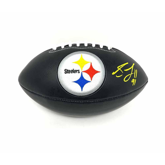 Stephon Tuitt Autographed Black Logo Football
