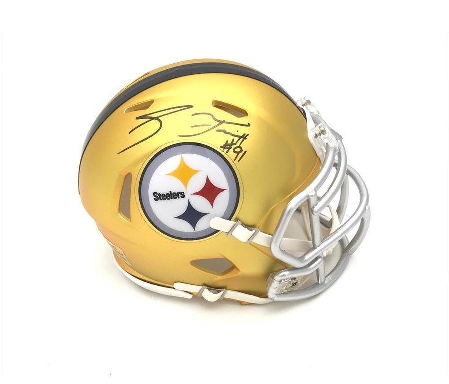 Stephon Tuitt  Autographed Pittsburgh Steelers BLAZE Mini Helmet