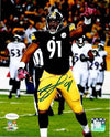 Stephon Tuitt Autographed Pointing Up in Black 16x20