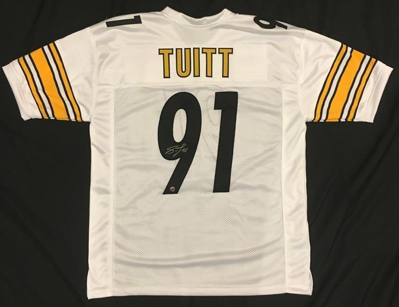 Stephon Tuitt Autographed White Custom Jersey