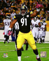 Stephon Tuitt Celebrating Vs. Ravens 8x10 Photo - UNSIGNED