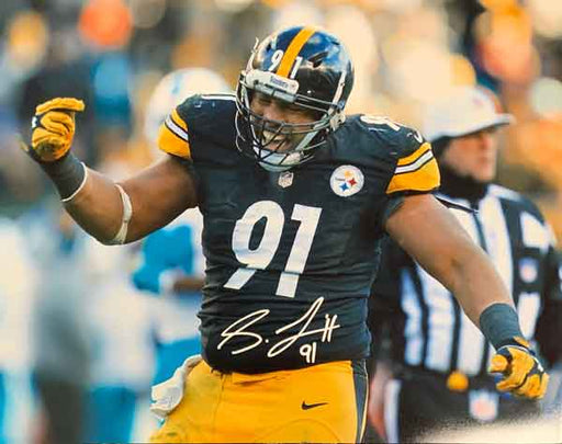 Stephon Tuitt Signed Arms Out Signed 16x20 Photo