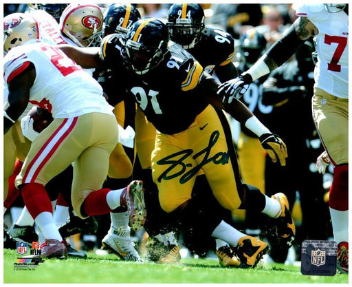 Stephon Tuitt Tackling 49er Signed 8x10